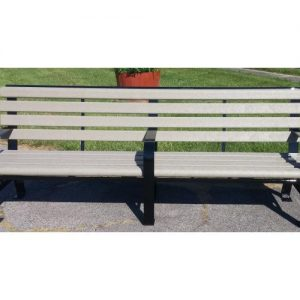 8ft Green Brook Recycled Plastic Bench
