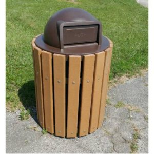 32 or 36-Gallon Trash Receptacle With Plastic Lid