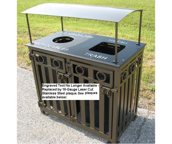 36 Gallon Broadway Dual Bin Recycling Receptacle