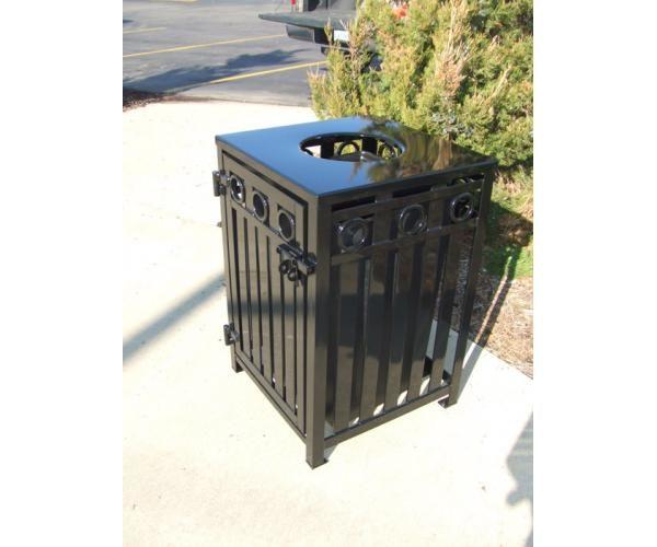 36 Gallon Broadway Square Trash Receptacle