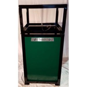 36-Gallon Catalina Square Hinged Lid Trash Receptacle
