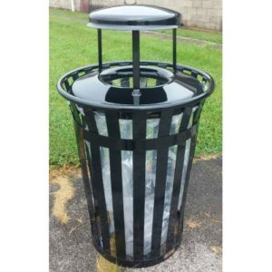 36 Gallon Main Street Clear View Trash Receptacle