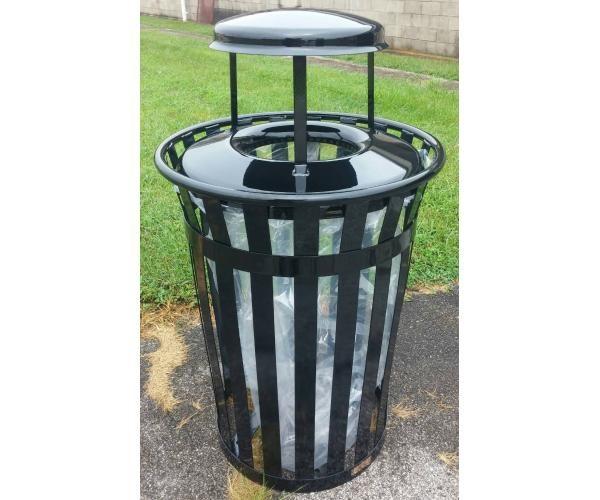 36 Gallon Main Street Clear View Trash Receptacle