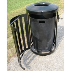 36 Gallon Main Street Trash Receptacle with Side Access