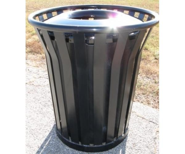45 Gallon Continental Trash Receptacle With Plastic Lid
