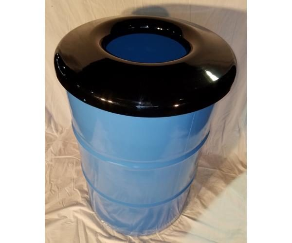 55 Gallon Drum Trash Can With Steel Lid