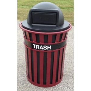 55 Gallon Brookfield Trash Receptacle With Plastic Lid