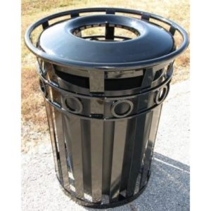 36 Gallon Broadway Trash Receptacle With Plastic Lid