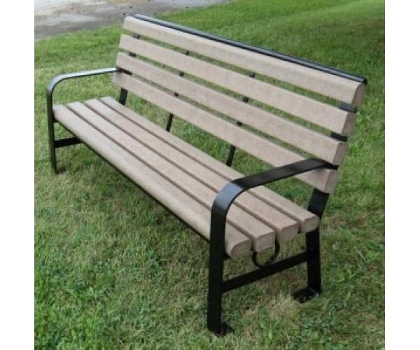 6ft Green Brook Recycled Plastic Park Bench