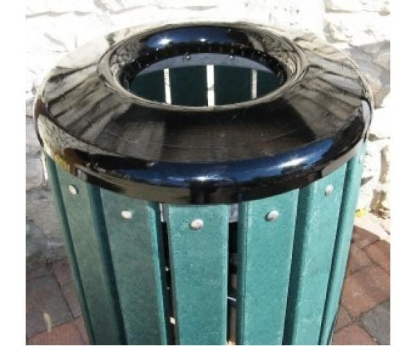 Recycled Plastic Outdoor Trash Receptacle