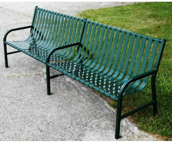 8ft Main Street Series Park Bench